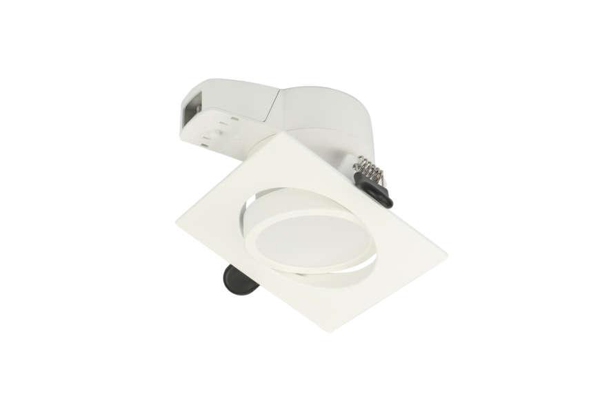 Rx Dl50 Downlight 8W Cct Square White Tilt 01
