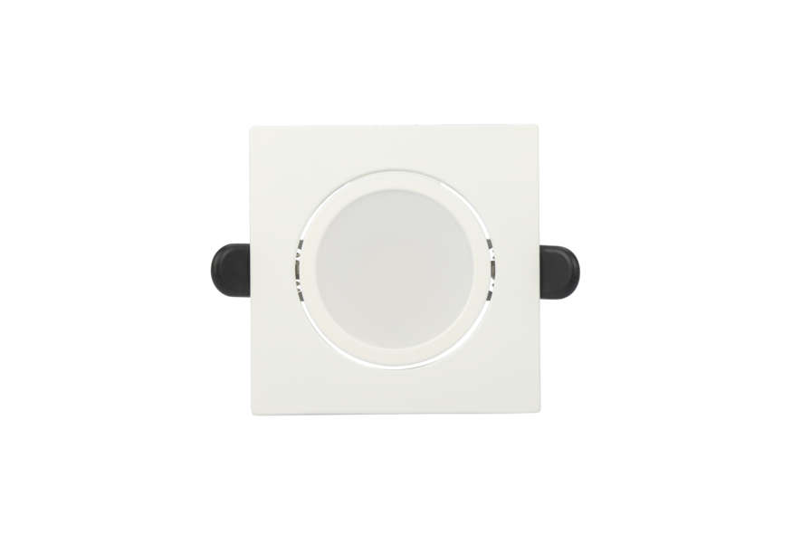 Rx Dl50 Downlight 8W Cct Square White Tilt 02
